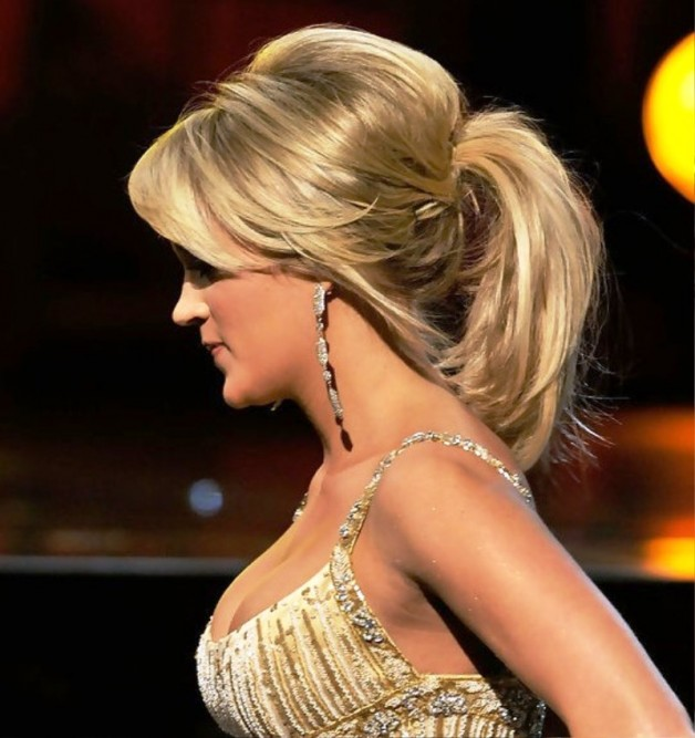 Peachy Cute Ponytail Hairstyle With Side Swept Bangs Behairstyles Com Short Hairstyles For Black Women Fulllsitofus
