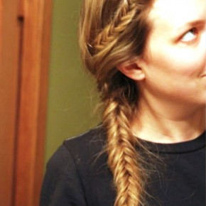 Casual Fishtail French Braid