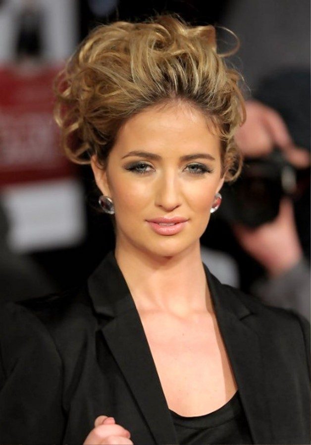 Chantelle Houghton Trendy Messy Updo Behairstyles