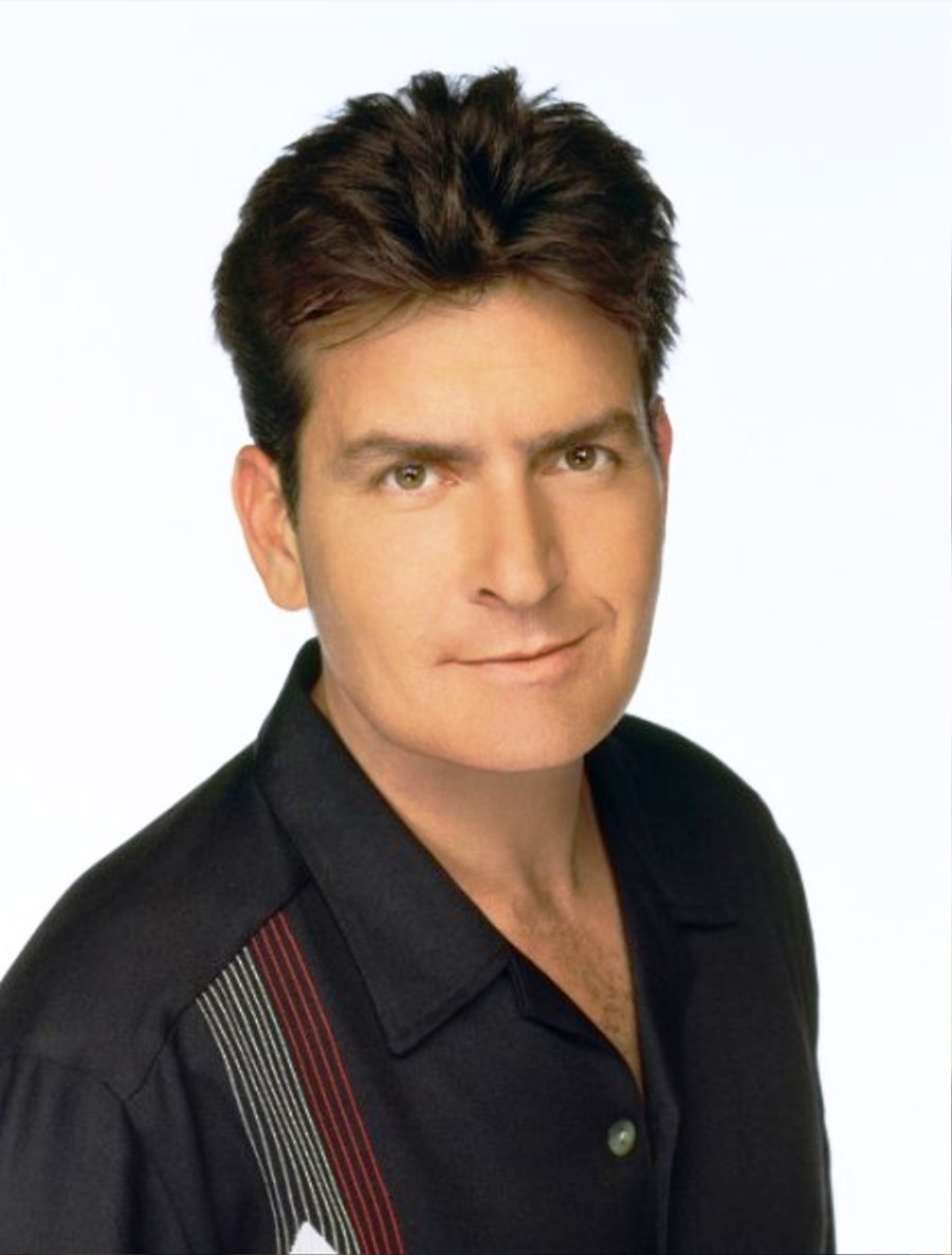 pictures of charlie sheen hair style for men
