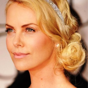 Charlize Theron Beautiful Loose Bun Hairstyles For Wedding