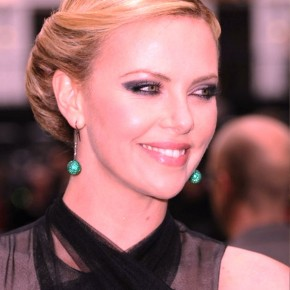 Charlize Theron Retro Twist Hairstyle For Summer