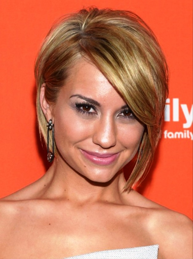 Chelsea Kane Side Parted Straight Haircut