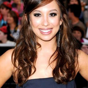 Cheryl Burke Cute Half Up Half Down With Side Swept Bangs