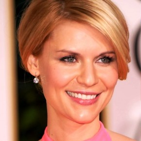 Claire Danes Elegant French Twist Updo With Bangs