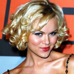 Curly Blonde Hairstyles Short