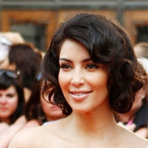Curly Bob Hairstyle By Kim Kardashian