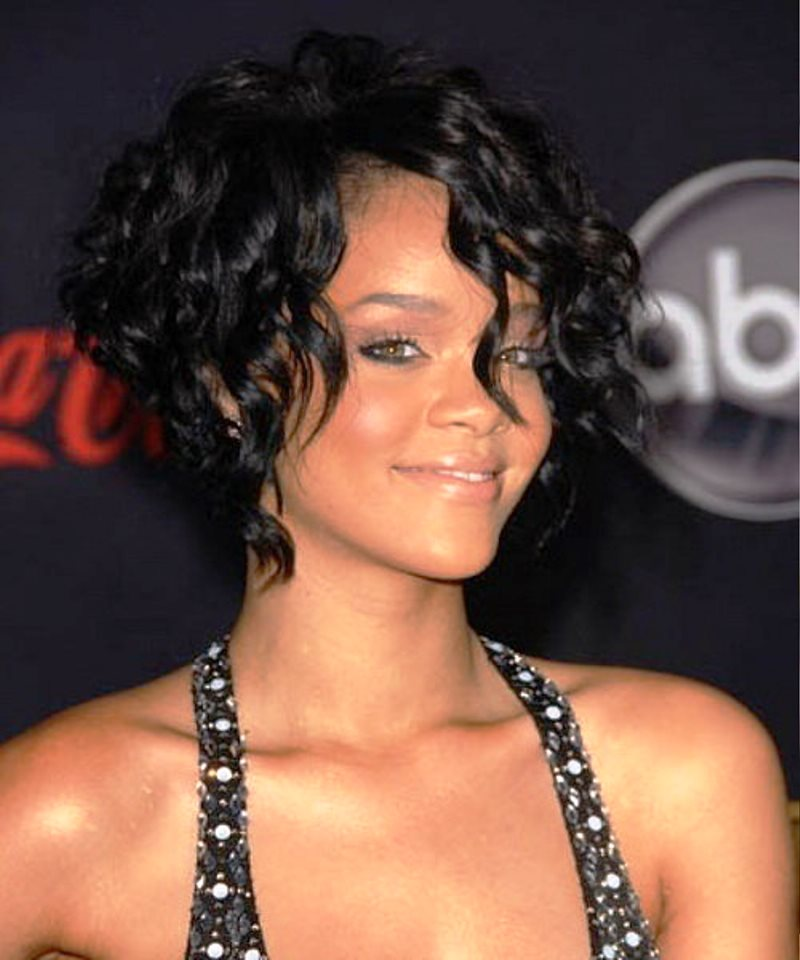 Awe Inspiring Pictures Of Curly Hairstyles Short By Rihanna Short Hairstyles For Black Women Fulllsitofus