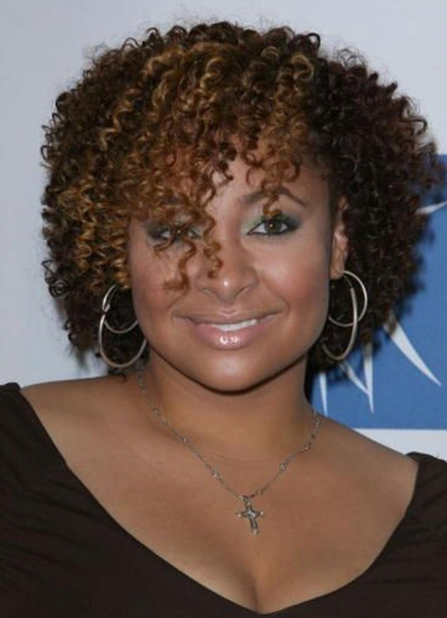 Curly Hairstyles for Black Women with Round Face