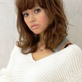 Curly Japanese Hairstyle 2013