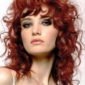 Curly Natural Hairstyles With Red Color