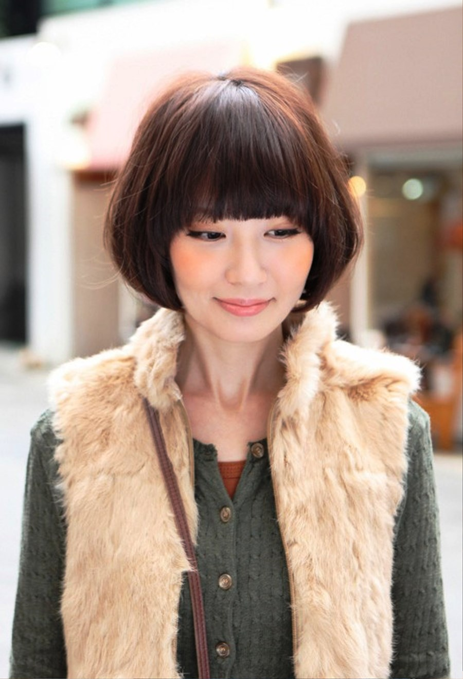cute medium short hairstyles : Pictures of Cute Asian Bob Hairstyle