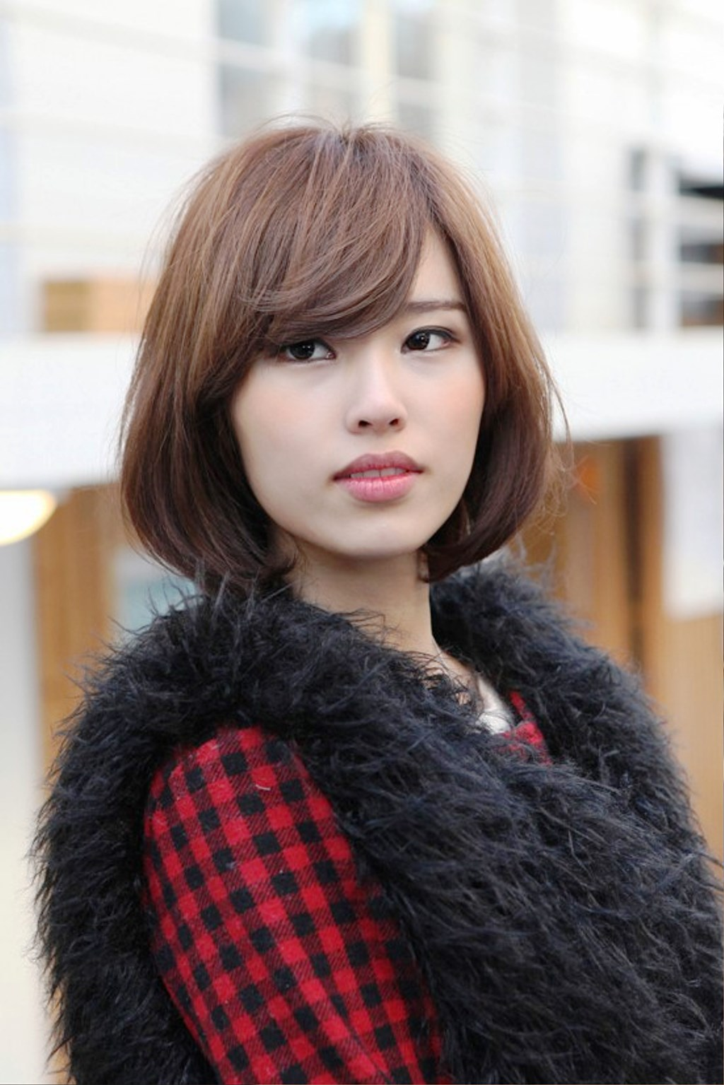 Pictures Of Cute Asian Bob With Side Swept Bangs