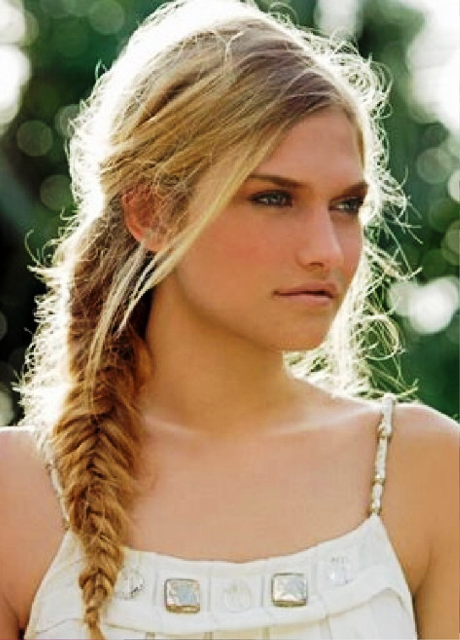 Pictures of molly sims braided updo for mature women cute fishtail braid hair style pmusecretfo Choice Image