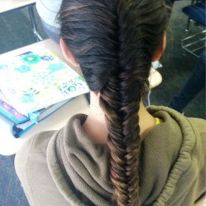 Cute French Fishtail Braid For Long Hair