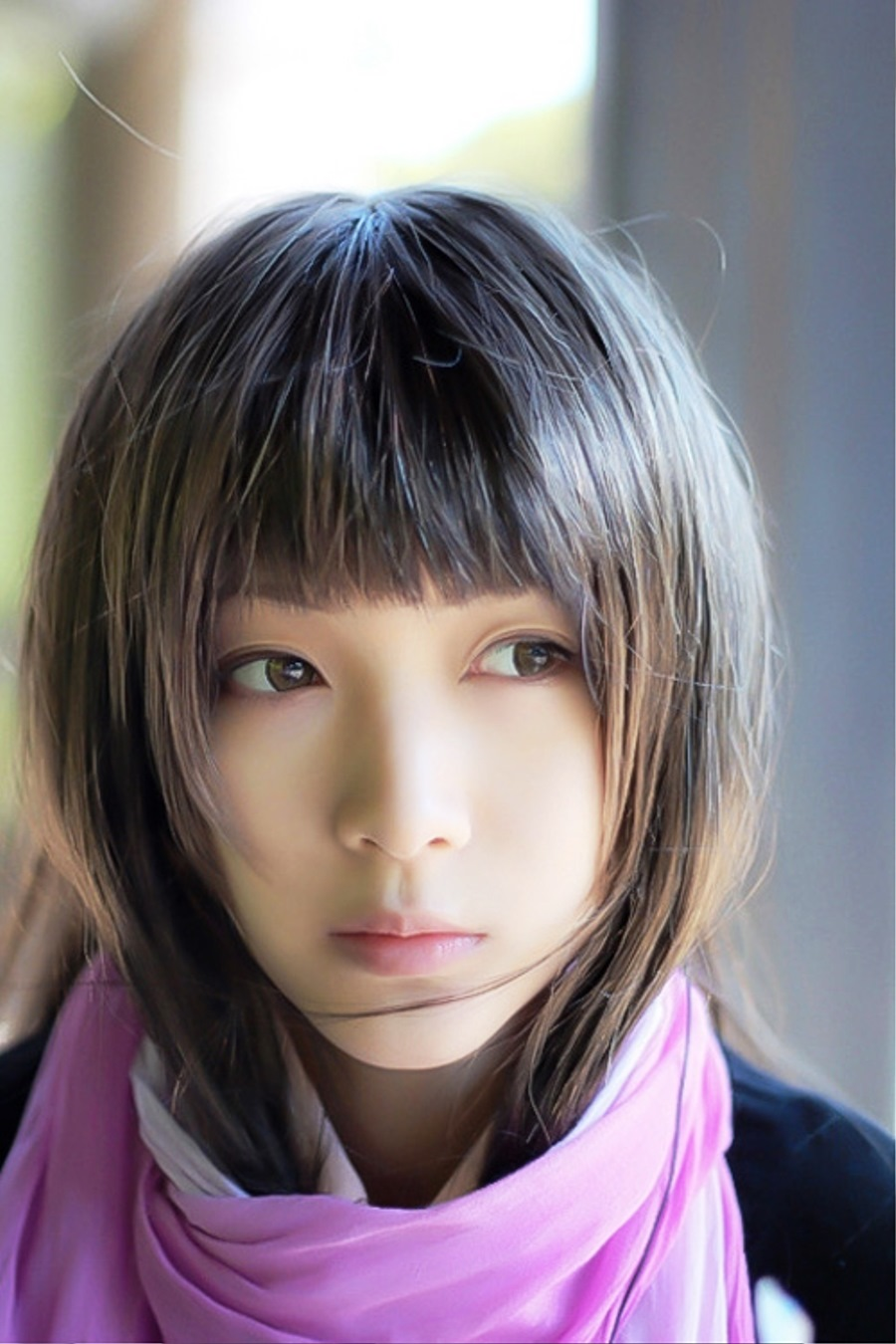 Short blunt bob hairstyle with bangs short hairstyles - Cute Short Asian Bob Haircut With Blunt Bangs