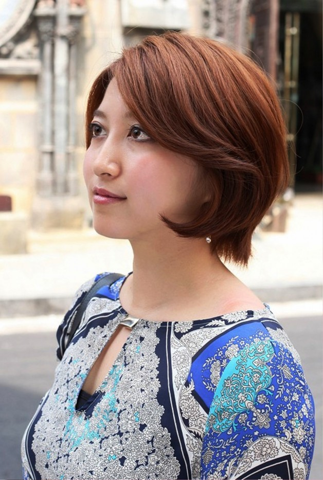Cute Short Asian Bob Hairstyle For Women