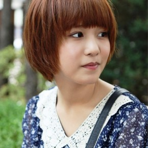 Cute Short Korean Bob Hairstyle