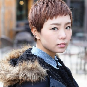 Cute Short Layered Boyish Hairstyle