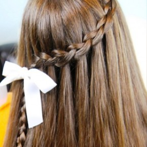 Cute Waterfall Braid Hairstyle
