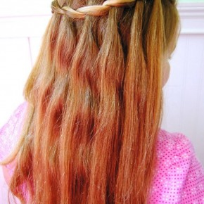Cute Waterfall Braid Hairstyle For Girls