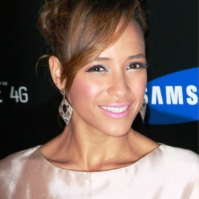 Dania Ramirez Loose Bun Updo With Side Swept Bangs