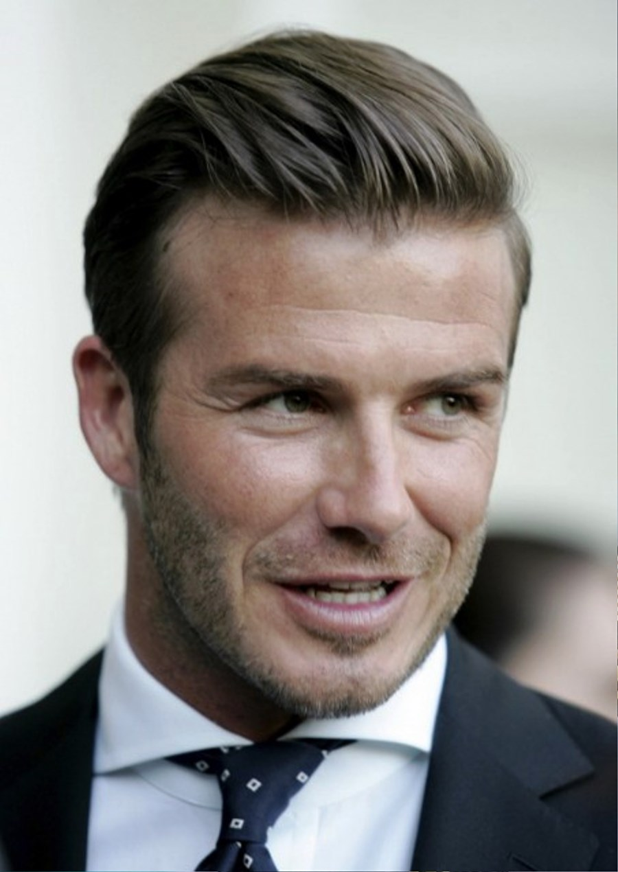 Pictures of David Beckham Fashion Business Hairstyle For Men