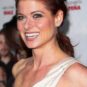 Debra Messing Elegant Red Loose Ponytail
