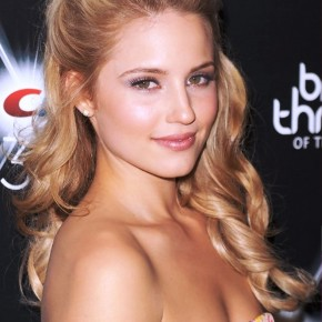 Dianna Agron Half Up Half Down Prom Hairstyle