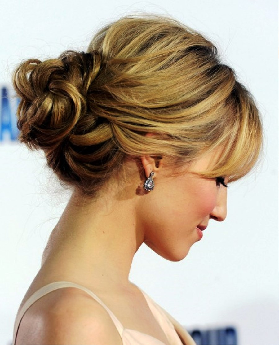 Pictures of dianna agron romantic loose low bun updo for wedding dianna agron romantic loose low bun updo for wedding pictures junglespirit Image collections
