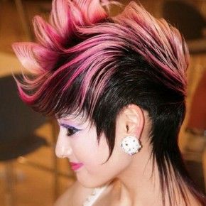 Different Punk Hairstyles Pink