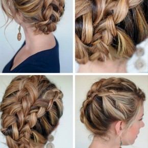 Double Dutch Diagonal Braided Updo