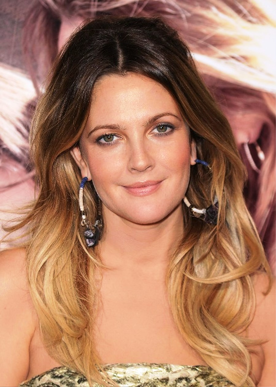 Drew Barrymore Long Ombre Hair Pictures