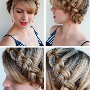 Dutch Crown Braid Updo