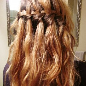Elegant Waterfall Braid Hairstyles For Curly Hair