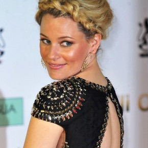 Elizabeth Banks Messy Braided Updo