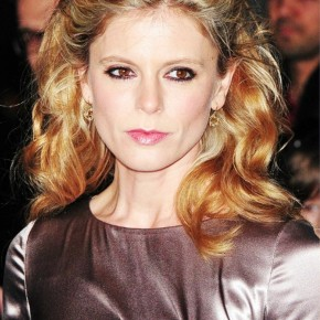 Emilia Fox Braided Half Up Half Down Curly Hair Style
