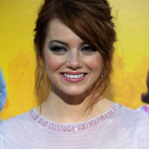 Emma Stone Chic Messy Updo Hair Style
