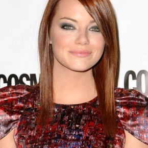 Emma Stone Long Sleek Red Hair