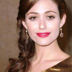 Emmy Rossum Braided Updo Hairstyles