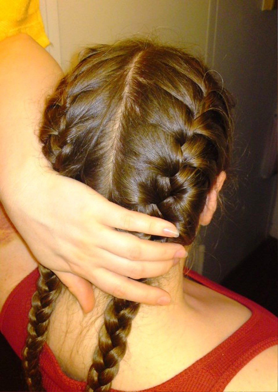 How To French Braid Hair Pigtails Solution For How To For Dummies How To Pigtail  French