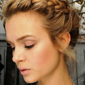 French Braid Updo Hairs