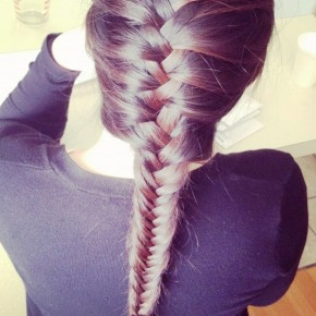 French Fishtail Braid Hair