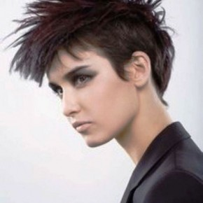 Girl Short Black Hairstyles Punk