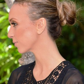 Giuliana Rancic Casual Loose Bun Updo
