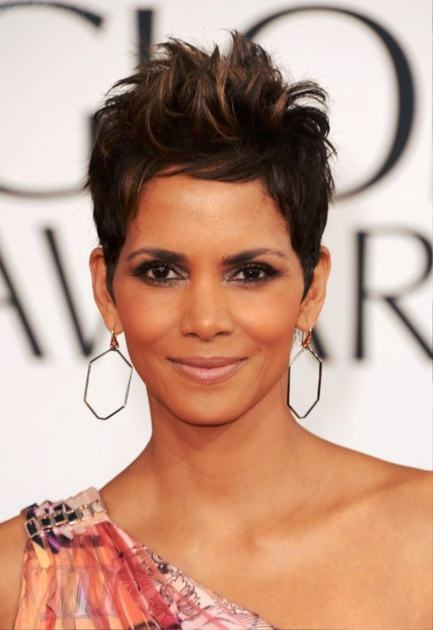 Halle Berry Short Spiked Pixie Cut 2013