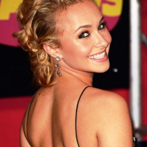 Hayden Panettiere Bobby Pinned Updo Hairstyles