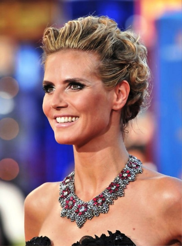 Heidi Klum French Twist Updo Hairstyle