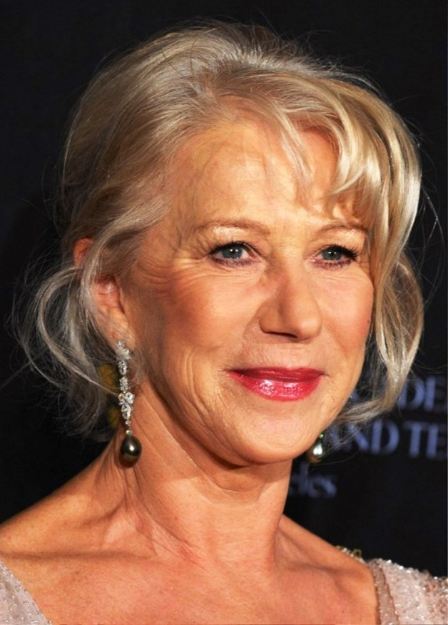 Helen Mirren French Twist Updo For Women Over 60