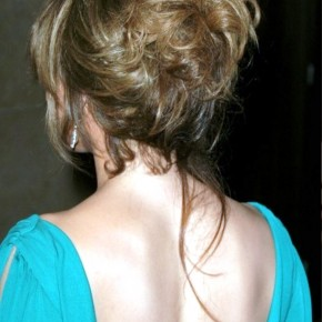 High Loose Chignon Knotted Elegant Hairstyle